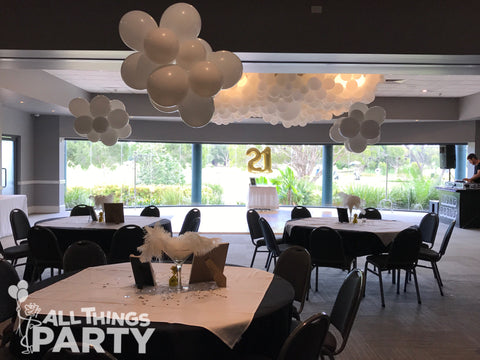 21st Birthday Great Gatsby Balloon Cloud