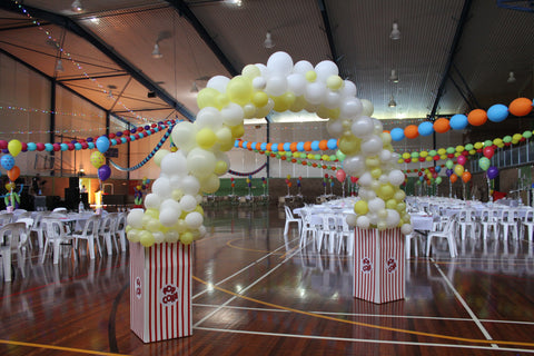Popcorn Balloon Arch Carnival Party Theme
