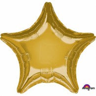 Gold Star Foil 48cm Balloon #30585