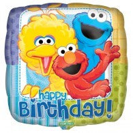 Sesame Street Foil Happy Birthday 43cm Balloon #17852