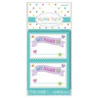 Baby Shower Name Tag Stick on 16pk