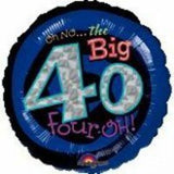 40th Birthday Foil 45cm Oh No 40 #116042