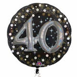 40th Birthday Foil Sparkling Holographic 81cm Balloon #32152
