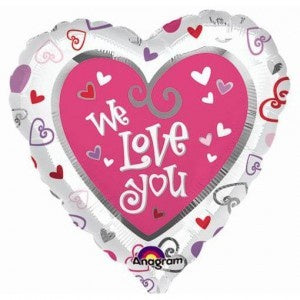 We Love You Foil 43cm Balloon #08403
