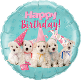 Happy Birthday Pets Foil 45cm Puppies Balloon #57620