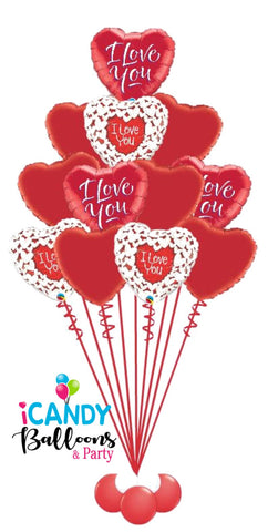 I Love You 1 Dozen Red Roses Balloon Bouquet #VDAY7