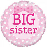 Big Sister Foil Pink Balloon #229486