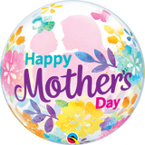 Happy Mothers Day Silhouette Bubble Balloon #55581