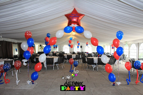 Personalised Star Linking Balloon Arch