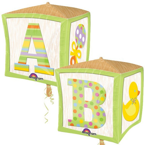 Baby Blocks Foil Cubez Balloon #28380