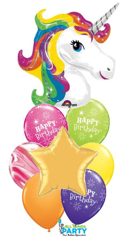 Unicorn Bright Birthday Balloon Bouquet #Unicorn2