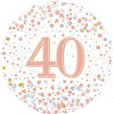 40th Birthday Foil Rose Gold Sparkling Fizz 45cm Balloon #227123