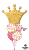 Mothers Day Queen Pink & Gold Balloon Bouquet