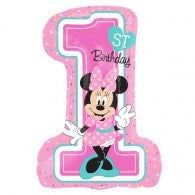 Minnie Mouse 1st Birthday Foil Fun To Be One Balloon #34352