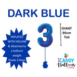 Dark Blue Number 3 Foil 86cm Balloon #48333