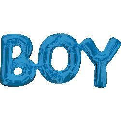 BOY Foil Joined Word Blue Balloon #33098