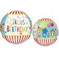 Circus Birthday Orbz Balloon #32906