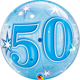 50th Birthday Bubble Blue Balloon #48447