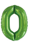 Lime Green Number Zero 0 Foil 86cm Number #50610