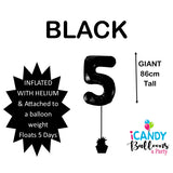 Black Number 5 Foil 86cm Balloon #48305