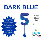 Dark Blue Number 5 Foil 86cm Balloon #213735
