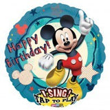 Mickey Mouse Foil Happy Birthday Singing Balloon #23491