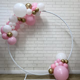 Organic Balloons on Open Hoop Prop Hire