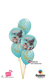 Party Time French Bulldog Balloon Dazzler Bouquet