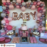 "Organic Cake Backdrop Rose Gold ""BABY"""