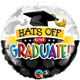 Graduation Foil 45cm Balloon Hats Off #93214