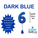 Dark Blue Number 6 Foil 86cm Balloon #213736