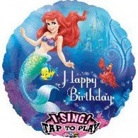 Mermaid Foil Happy Birthday Singing Balloon #27708