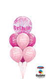 Pink Bubble Splendor Balloon Bouquet