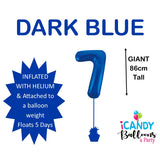 Dark Blue Number 7 Foil 86cm Balloon #213737