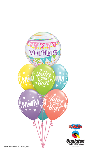 Mothers Day Bunting Bubble Splendor Balloon Bouquet