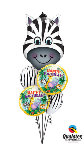 Happy Birthday Zany Zebra Safari Bouquet