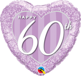 Happy 60th Anniversary Heart Foil Balloon #49132
