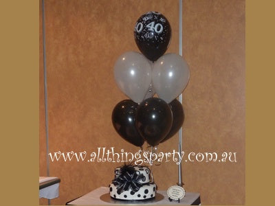 Balloon Centrepiece 7 latex on balloon weight (48 hour float time)