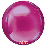 Magenta Foil Orbz Balloon with Tassel #28206