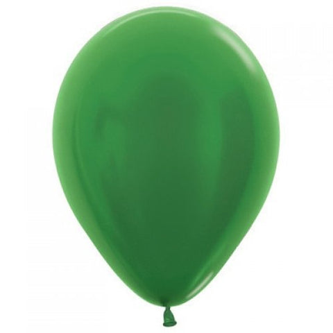 Balloons Metallic Emerald Green (530) 30cm Latex 100pk #206639