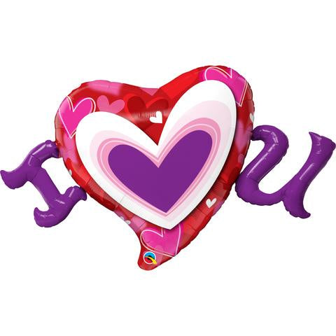 I Love You Foil Superhshape Heart Balloon #54984