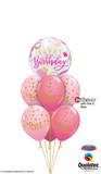 Magenta Birthday Confetti Bubble Splendor Bouquet