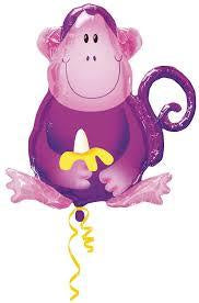 Jungle Monkey Foil Purple 70cm Balloon #115029