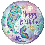 Mermaid Tail Happy Birthday Foil Balloon #16119
