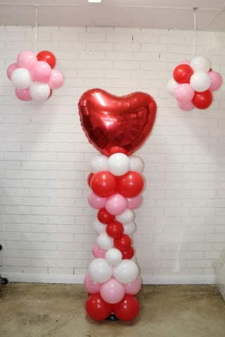 Love Heart Balloon Column