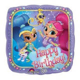 Shimmer & Shine Foil Happy Birthday 43cm Balloon #33941