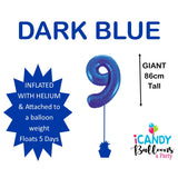 Dark Blue Number 9 Foil 86cm Balloon #48339