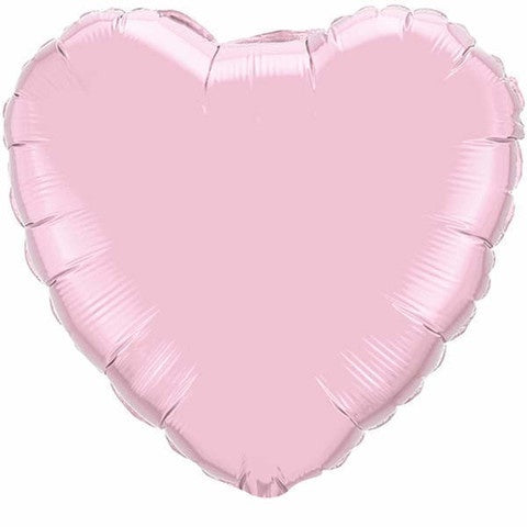 Pink Heart Foil Balloon Pearl Baby Pink #99349