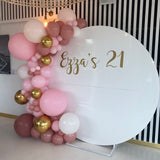 HIRE White Acrylic wall with Organic Balloons