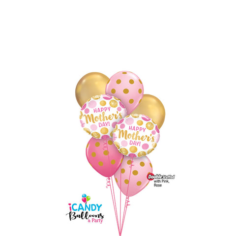 Mother's Day Good as Gold Dots Balloon Dazzler Bouquet